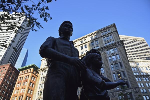 boston irish famine memorial in downtown