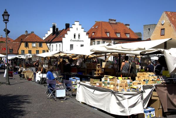 on the market square of visby