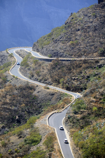 hairpin curve at masca tenerife