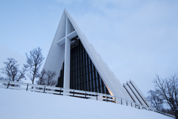 ice sea cathedral in winter