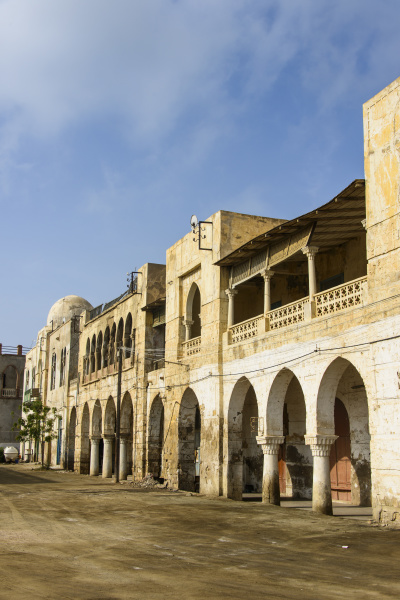historical africa arcade deserted style of