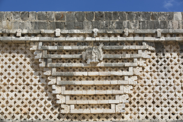 geometric frieze nuns quadrangle uxmal mayan