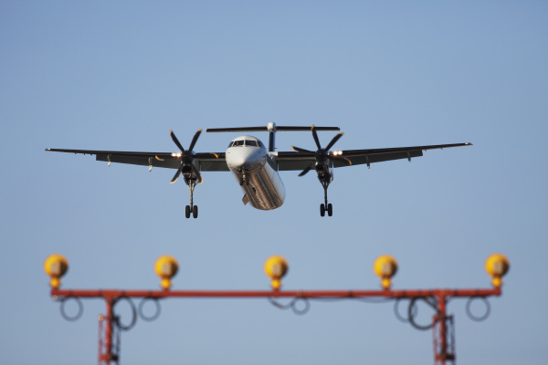 a bombardier dash 8 turboprop aircraft