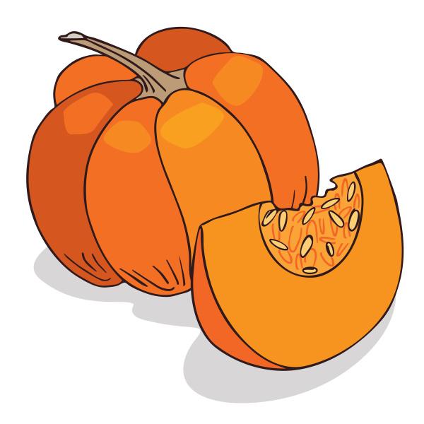 isolate ripe squash or pumpkin