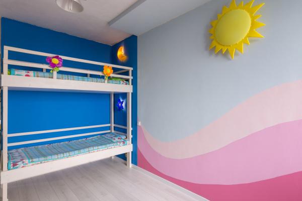 interior of a children s room