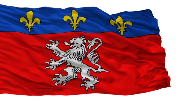 lyon city flag france