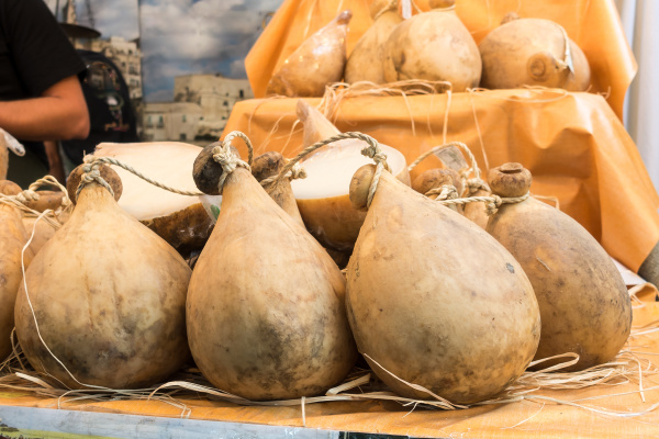 many forms of caciocavallo cheese dop