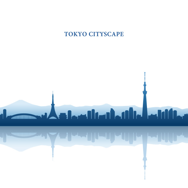tokyo cityscape tokyo tower and