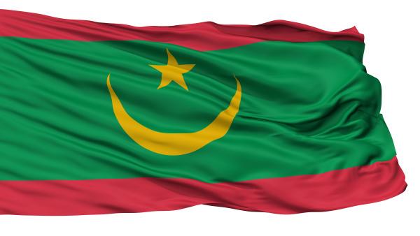 mauritania flag isolated on white