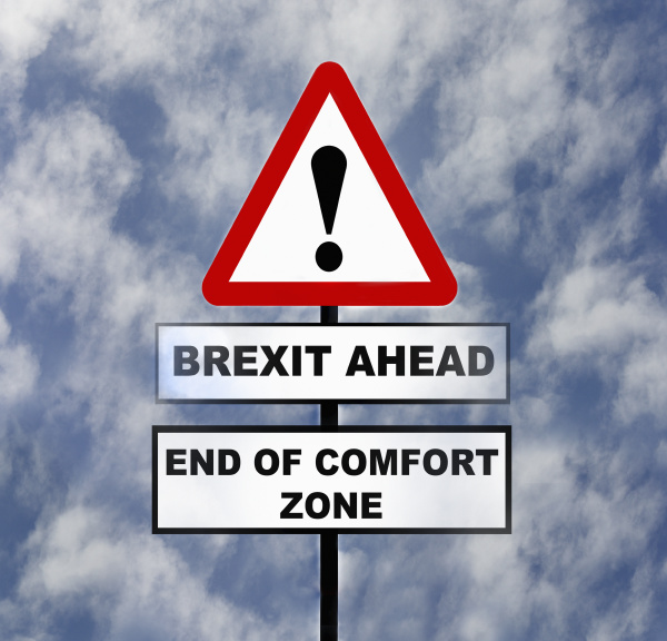 road sign warning of brexit problems
