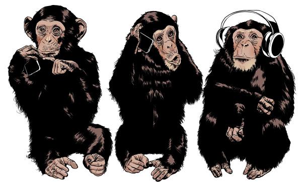 three monkeys see no evil