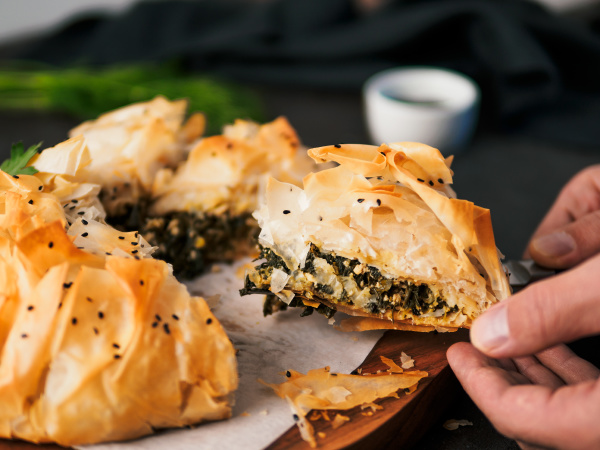 vegan spanakopita spinach pie