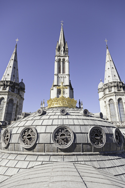 dome of the church of lourdes
