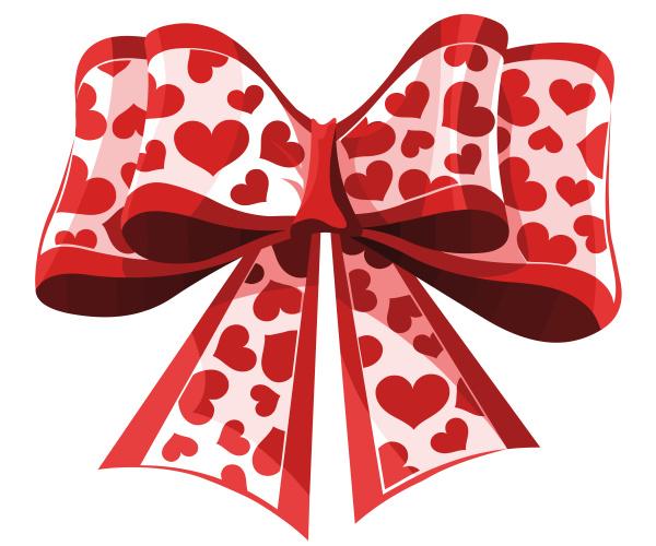 bow ribbon gift decorative heart festive