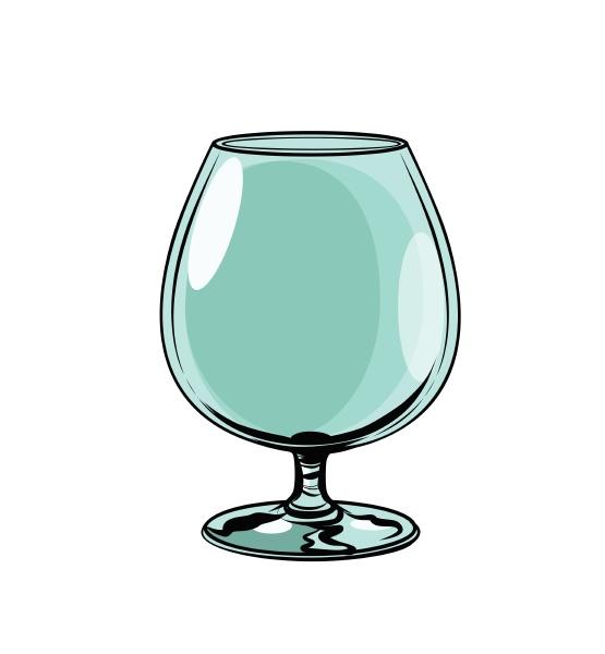 empty glass goblet