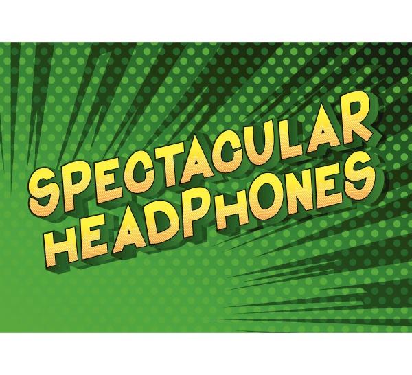 spectacular headphones comic book style