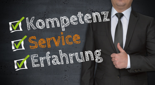 kompetenz service erfahrung