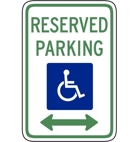 reserved parking handicapped
