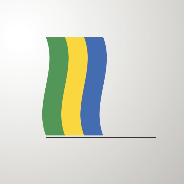 gabon waving flag