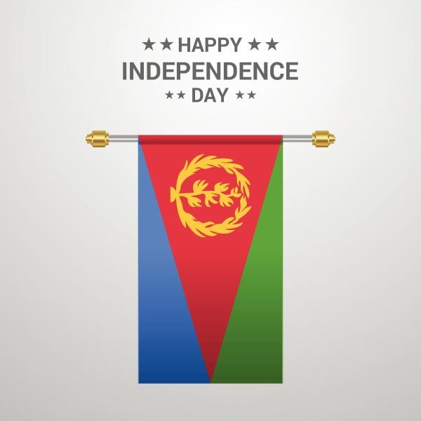 eritrea independence day hanging flag background