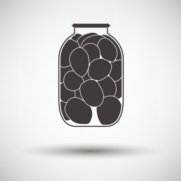 canned tomatoes icon on gray background