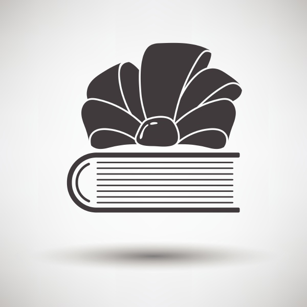 book with ribbon bow icon on