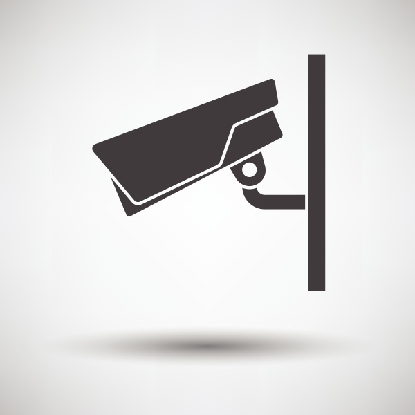 security camera icon on gray background