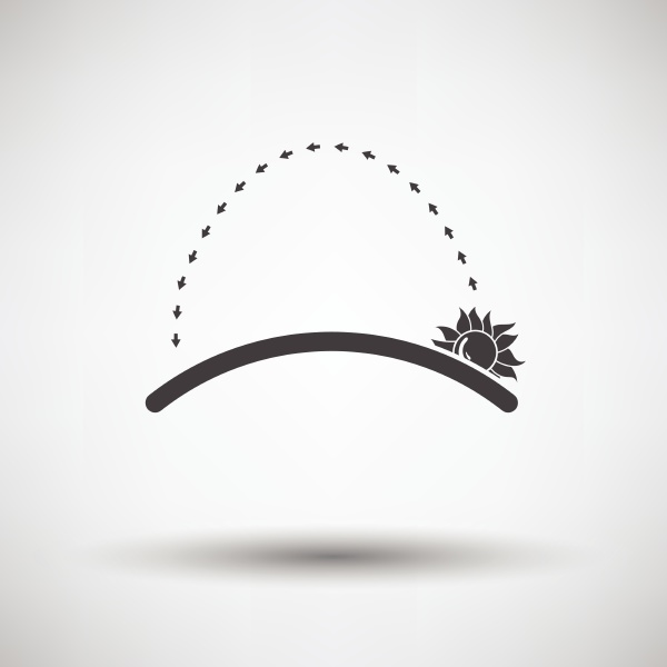sunrise icon on gray background with