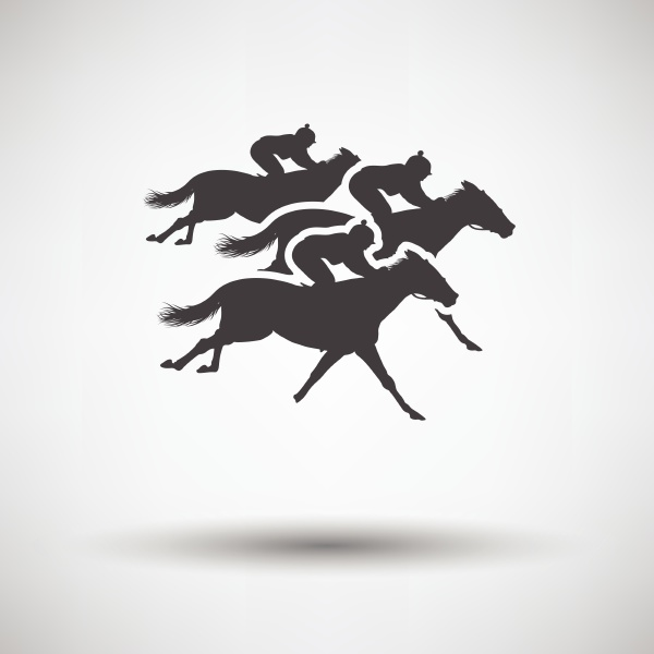 horse ride icon on gray background