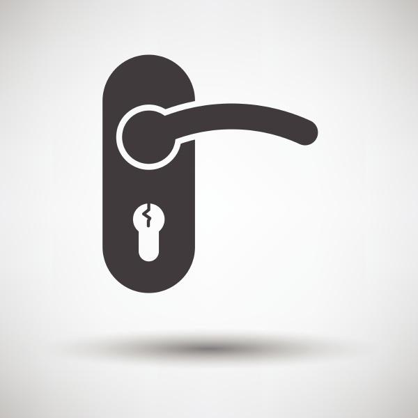 door handle icon on gray background