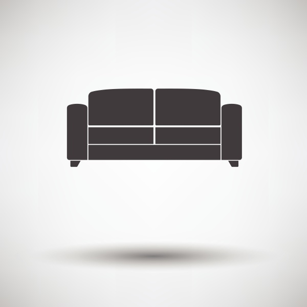 office sofa icon on gray background