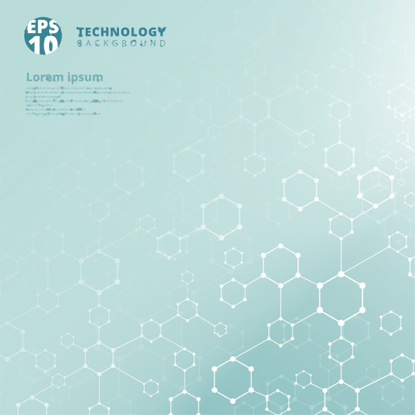 abstract technology geometric hexagon with