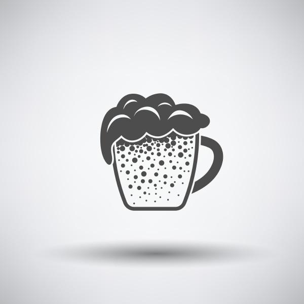 mug of beer icon on gray
