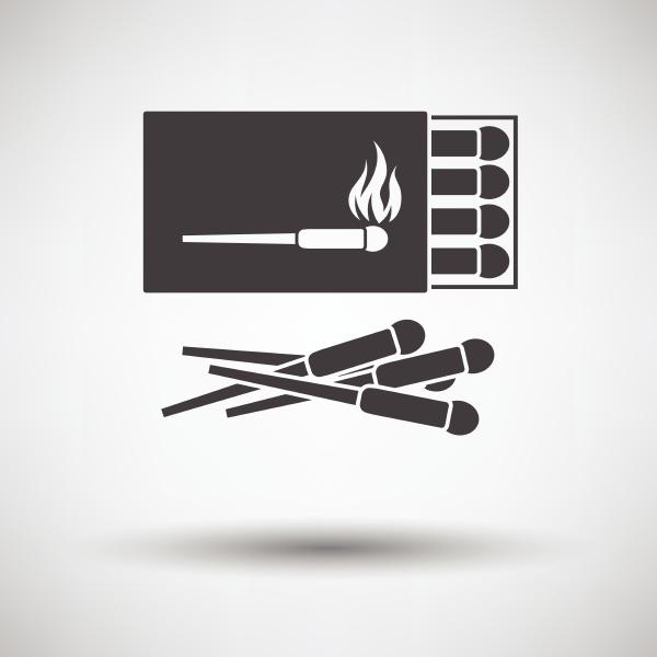 match box icon on gray