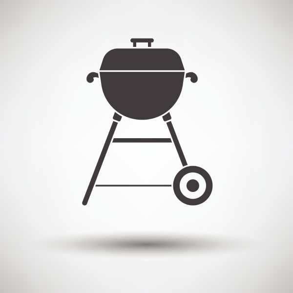 barbecue icon on gray background