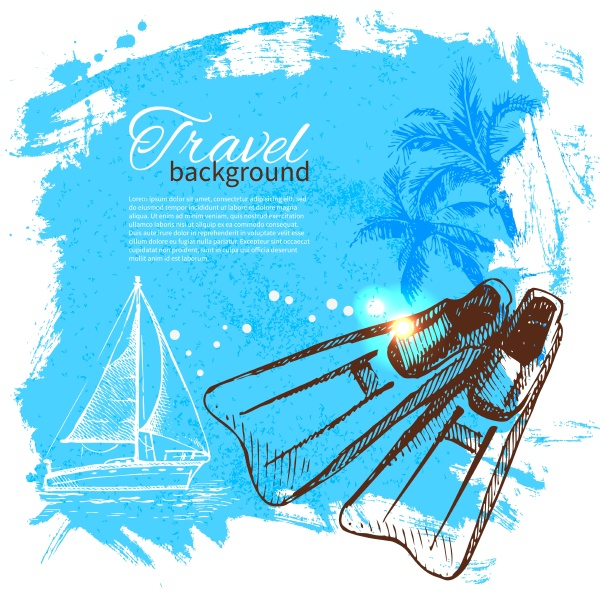 travel colorful tropical design splash blob