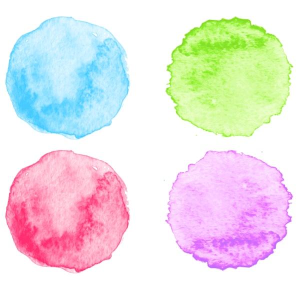 blue watercolor splatters vector illustration