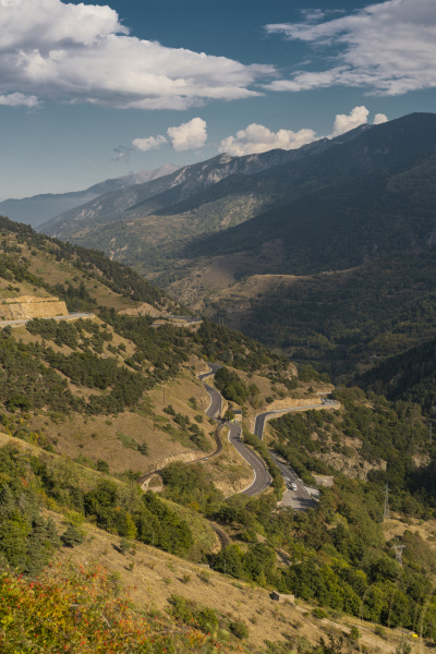 french pyrenees mountain road