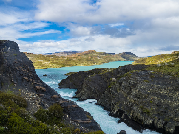 south america chile patagonia view to