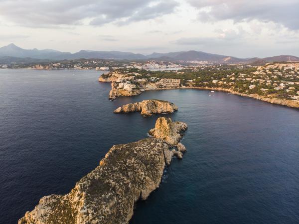 spain mallorca region calvia aerial view