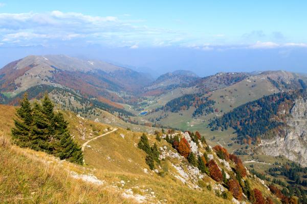 autumn landscape italian alps