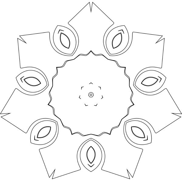 black and white simple symmetry pattern