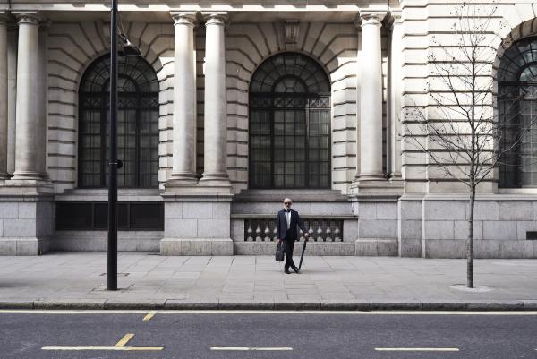 uk london stylish senior businessman with
