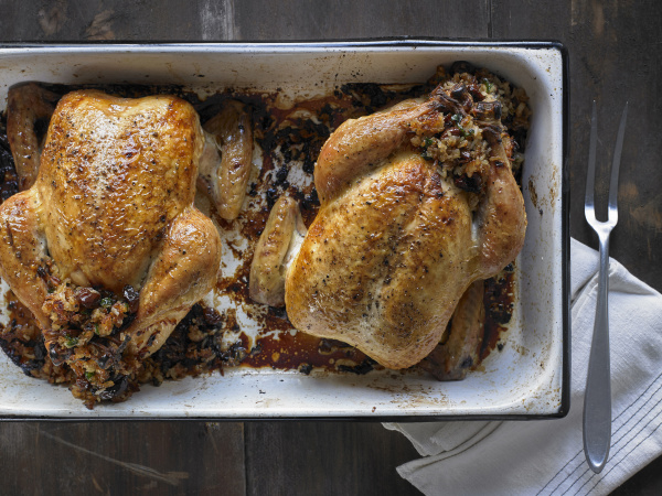 georgian stuffed chicken with stuffing that