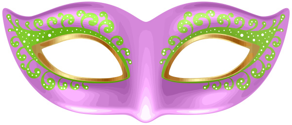 pink mardi gras carnival mask shine