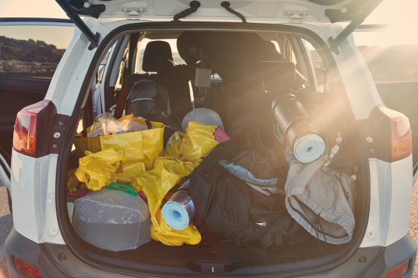 trunk, with, stuff, for, camping - 26656693