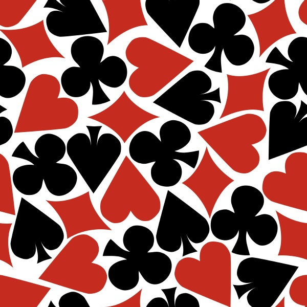 seamless card suit pattern