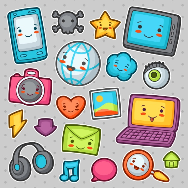 kawaii gadgets social network items