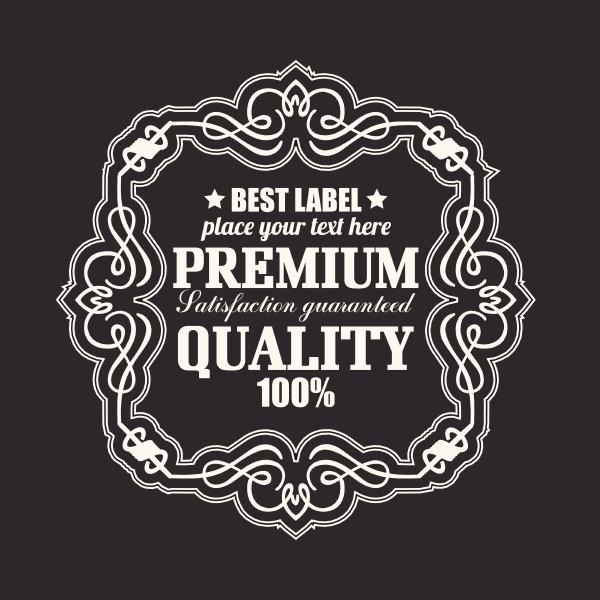 retro label premium quality badge retro