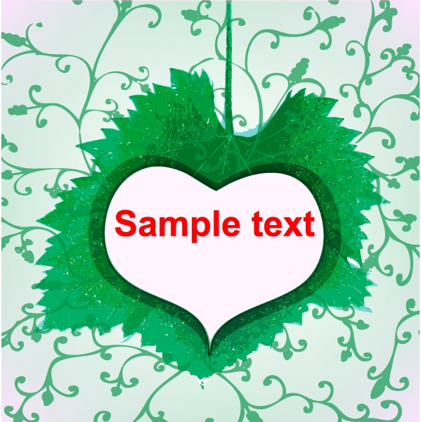 abstract green heart icon